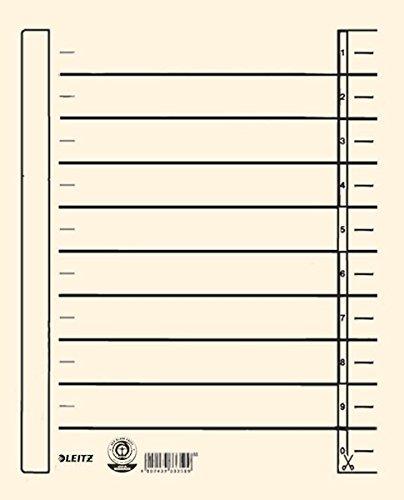 Leitz A4 Trennblätter 100 Stück 1657 00 11 mit seitl. Druck 16570011