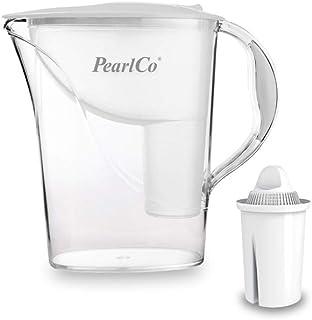 PearlCo Standard - Carafe avec Filtre à Eau - Blanc - 1 Cartouche Classic Incluse (Compatible avec Brita Classic)