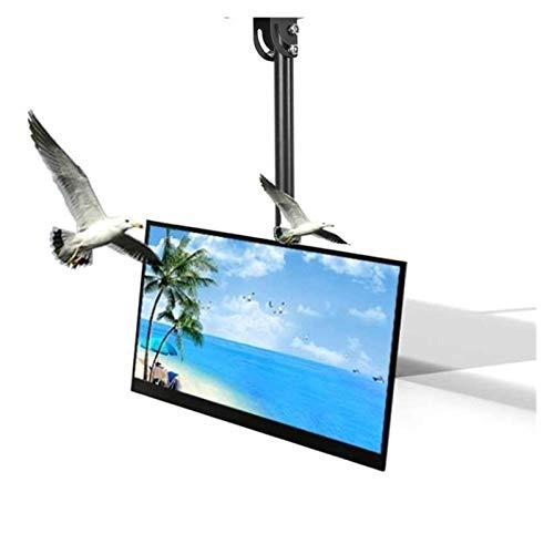 Mueble de TV es Retráctil y Ajustable en Altura para Colgadores de TV de Doble Pantalla. (Color : Black)