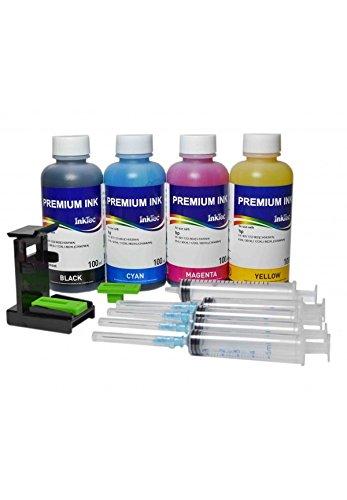 Кit ricarica di cartuccia HP 301, 301XL nero e colore, inchiostro stampa continua di alta qualità + siringhe per riempire