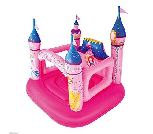 Bestway 91050 Castello Principesse Disney Gonfiabile 157x147x163 cm Giochi Bimbe. MWS