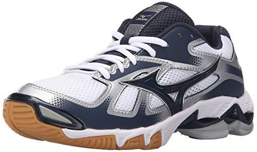 Mizuno Women's Wave Bolt 5-W Volleyball Shoe, White/Black, 8