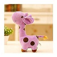 ぬいぐるみ紫キリン動物赤ちゃんクリスマスお誕生日おめでとうギフトぬいぐるみおもちゃ,38cm
