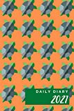 Daily Diary 2021 one page per day: Sea Turtle Orange Cover | 1 Year Daily Diary 2021 | One Year Planner Calendar Journal Organizer Diary for 12 Months ... Present for Colleague Coworker Manager Friend