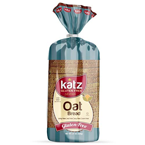 Katz Gluten Free Oat Bread | Dairy Free, Nut Free, Soy Free, Gluten Free | Kosher (3 Packs of 1 Sliced Loaf, 21 Ounce Each)