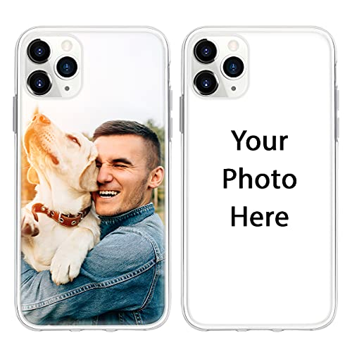Personalized Picture Design Your Own Customized Photo Custom Phone Case Cover Compatible with iPhone 6 6s 7 8 Plus SE 2020 X XS XR 11 12 Mini Pro Max Samsung Galaxy S9 S10 S20 S21