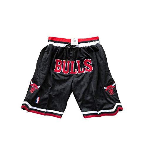 ULIIM Bulls Pantaloncini da Uomo Chicago Bulls Shorts Sportivi Swingman Training Short M-XXL