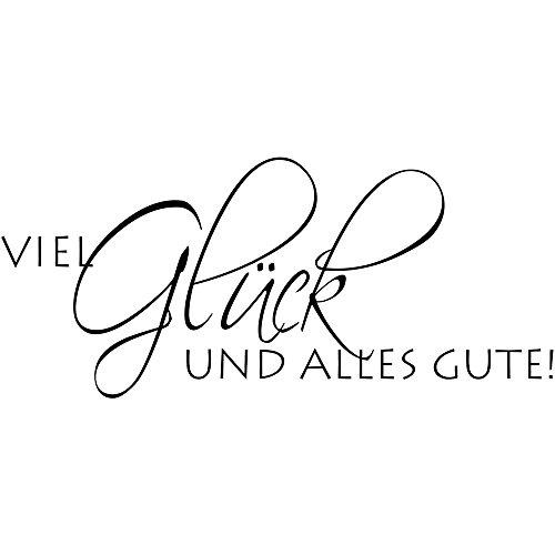 RAYHER 28480000, H.- Stempel Viel Glück und alles Gute, 4 x 8 cm, Artikel 16181