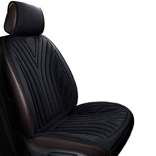 ZYM 12V Auto Beheiztes Sitzkissen Tragbares Winter-Isolierkissen Überlast- Und Stromausfallschutz Mit DREI Geschwindigkeiten Für Das Home Office