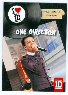 Louis Tomlinson trading card (One Direction 1D) 2013 Panini Take Me Home Over Again #10