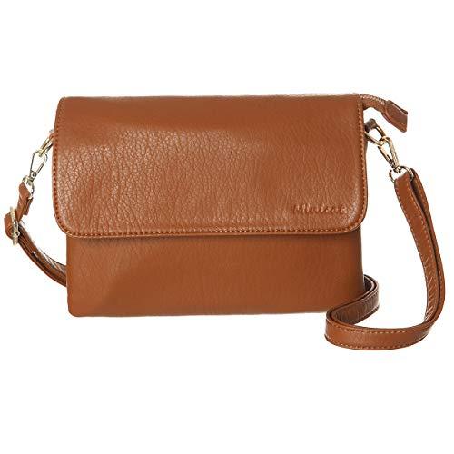 MINICAT Crossbody Purse Bulit in Wallet Small Crossbody Bags Pocketbooks for Women(Brown,Small)
