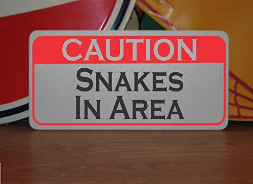 Générique Plaque en métal « Caution Snakes in Area » pour Terrain de Golf, Terrain de Golf Pro Shop