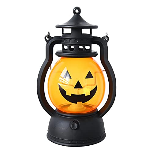 NAXIAOTIAO Halloween-Öl-Lampe Kürbis-Schädel, Atmosphäre Requisiten LED Tragbare Kürbis-Schädel Pony Laterne Bar Party (Farbe: 3 Stücke Mix Farbe),D
