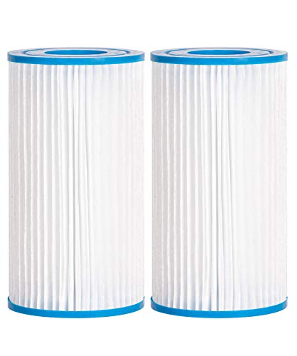 Future Way Type A or C Pool Filters for 530, 1000, 1500 GPH Pump, Compatible with Intex, Bestway, Summer Waves Above Ground Pool Pump (2-Pack)
