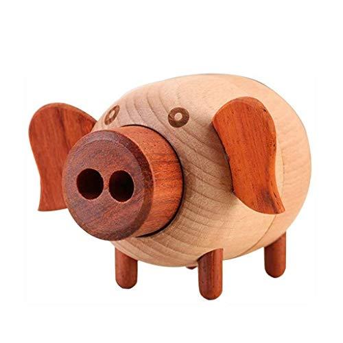 ZHBH Caja de música de Madera - Artesanía de Caja de música de Madera, Mini Caja de música en Forma de Cerdo, Estilo Rural