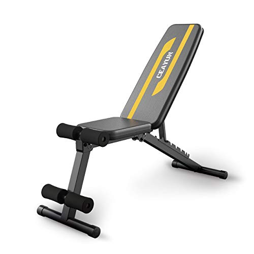 CEAYUN Adjustable Weight Bench Strength Training Bench for Full Body Workout amp Home Gym