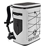 Earth Pak Insulated Backpack Cooler Holds 35 Cans for 72 Hours - Perfect Lunch or Drink Bag for Camping, Hiking, Fishing, Kayaking, Sports, or The Beach - 100% Waterproof Heavy Duty Construction