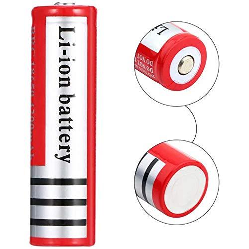 kally Icr 18650 Pilas Recargables 3.7 V li-Ion Lithium Ion 4200 Mah Alta Capacidad Batería, para Luces Solar, Luces Jardín, Control Remoto, Mouse, Linterna, (con Caja, 1pcs)