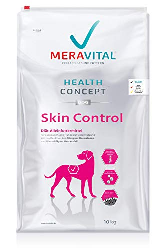 MERAVITAL Skin Control Hundefutter trocken 10 kg für Hunde mit Hauterkrankungen & Futtermittelallergien mit Rezeptur aus Ente und Kartoffel