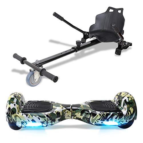 """TOEU Hoverboard, 6.5"""" Self Balance Scooter, Elektro Skateboard Bluetooth-Lautsprecher LED-Leuchten, Geschenk für Kinder Jugendliche Erwachsene"""