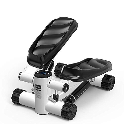 YF-SURINA Equipo deportivo para interiores Stepper, Fitness Pedal Fitness Home Stepper, Mini Stepper hidráulico con cordón (para principiantes) y Sports Stepper multifunción con pantalla multifunción