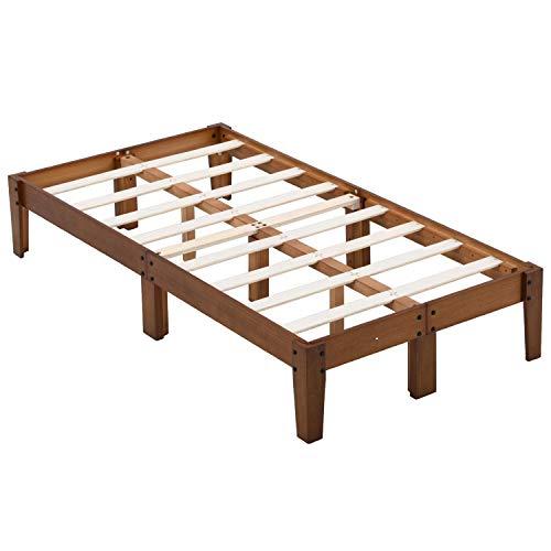 B&D home - massiv Holzbett 100x200 cm | Familien Bett mit Lattenrost | Japanisches Bett Jugendliche | Family Bed