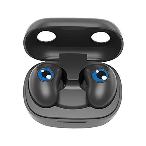 #N/A/a Táctil HiFi Bluetooth 5,0 táctil IPX5 Impermeable Auriculares inalámbricos Auriculares para niños Fitness Llamadas música Deportes - Negro
