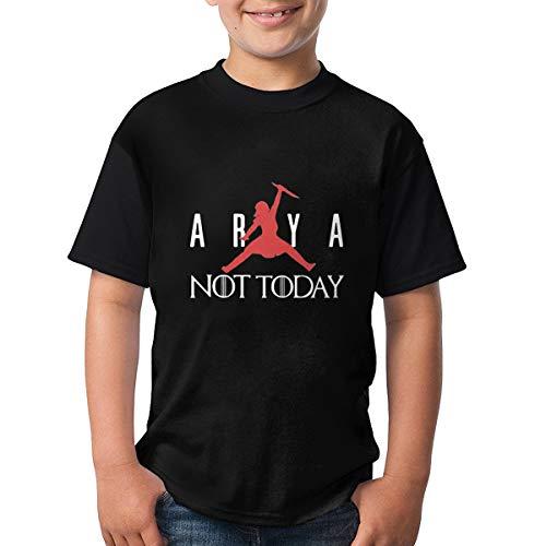 Arya Stark Jordan Logo Not Today Kids Camisetas Ligero Gráfico Manga Corta Adolescentes Tops