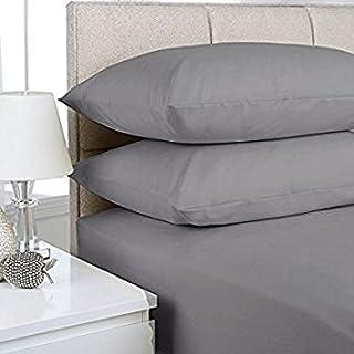 NIYS Luxury Bedding Draps-housse très profonds, ajustés, de luxe, percale, 40cm, 15couleurs, Silver, Super king