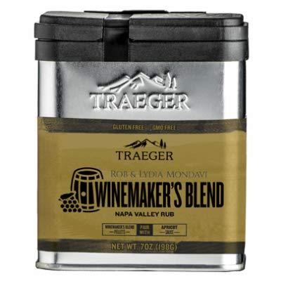 Traeger Pellet Grills SPC192 Winemaker's Napa Valley Rub Spice, Brown