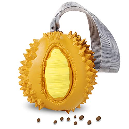 Jomilly Puppy Chew Toys Interactive Dog Toys IQ Treats Dispensing Ball Durable Teething Pet Toy for Puppies Small Dogs,Non-Toxic Durian Texture.