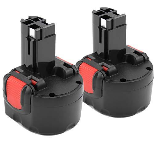 [2 Stück] Shentec 9.6V 3.5Ah Ni-MH Ersatzakku für Akku Bosch PSR 960 BAT048 BAT100 BAT119 2607335272 2607335461 Gsr 9.6VE-2 PSR 9.6VE-2 PSR960 23609 32609-RT