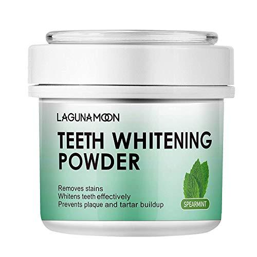 Lagunamoon Teeth Whitening Powder, Perle Zahnaufhellung Pulver, Zahn Pulver Natürlich,50g