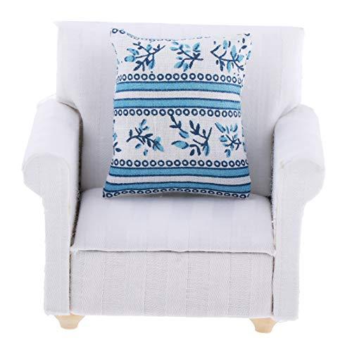 GRASARY Sofá en miniatura 1:12, cómoda casa de muñecas de madera realista, sofá moderno para niñas, perfecto regalo de casa de muñecas