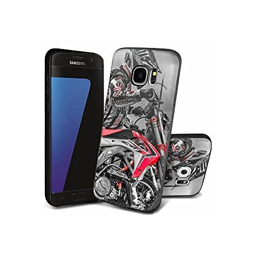 XaNChVlI Compatible con Samsung Galaxy S7 Edge Funda diseño de patrón, Color Negro Ultra Delgado Suave TPU Silicona a Prueba de Golpes, Funda para Samsung Galaxy S7 Edge #A010