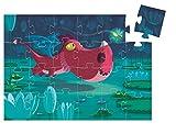 Djeco- Edmond P Juego de Rompecabezas con Diseño de Dragón de 24 Piezas, Multicolor (DJ07214)