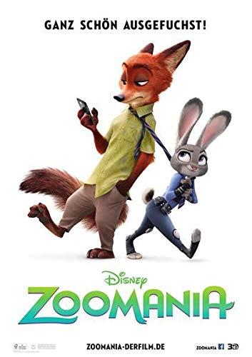 Zootopia - Disney – Deutsche Film Poster Plakat Drucken Bild - 43.2 x 60.7cm Größe Grösse Filmplakat Zootropolis