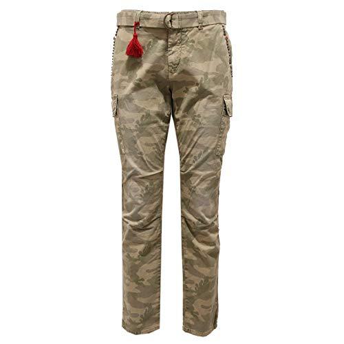 Mason's 9999J Pantalone Donna Green Camouflage Jeans Woman [40]