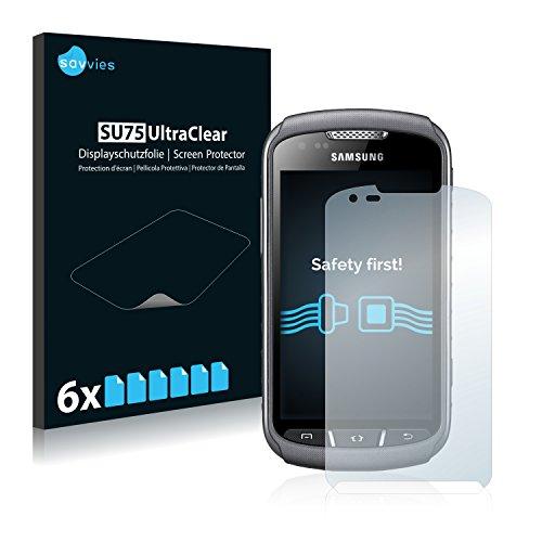 savvies 6-Pezzi Pellicola Protettiva Compatibile con Samsung Galaxy Xcover 2 S7710 Protezione Schermo Trasparente