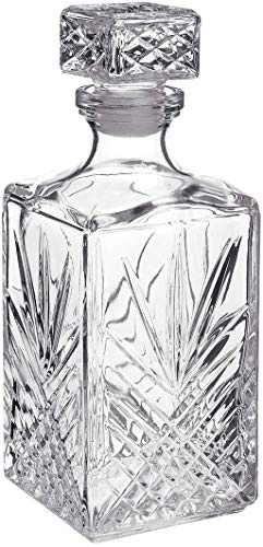 Bormioli Rocco Selecta Decanterò Glaskaraffe, Whisky-Karaffe, transparent
