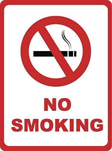 Geen roken teken - inch grote zakelijke waarschuwing veiligheidsborden, 12x18