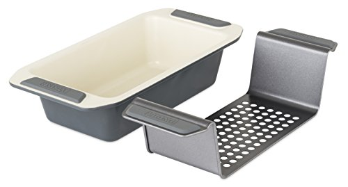 Viking Ceramic Nonstick Bakeware Meatloaf Pan w/Rack, 9 Inch