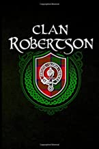 Clan Robertson: Scottish Clan Tartan Family Crest - Blank Lined Journal with Soft Matte Cover