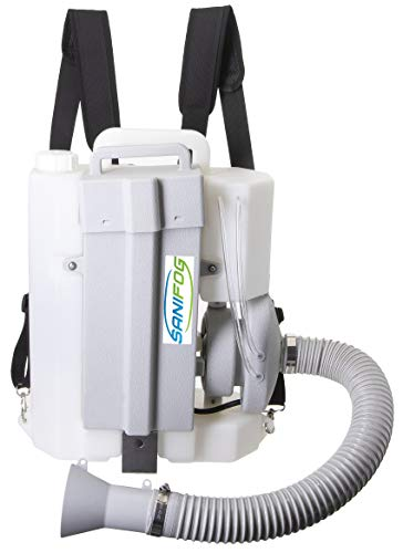 Sanifog 8 Liter Cordless Backpack Electric Sprayer Fogger Machine Disinfectant 25 ft Spray ULV Cold Fogger Machine Disinfecting Commercial Industrial and Home (8L Cordless)