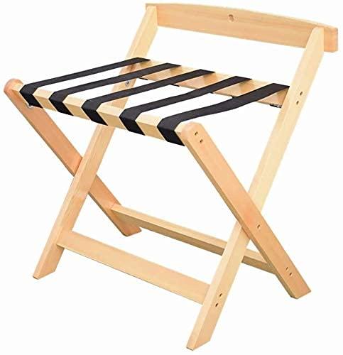 Soporte de equipaje Pasador de equipaje plegable de madera maciza Partes de equipaje plegable de madera plegable Soporte de maleta de dormitorio, depósito de equipaje Rack Equipaje Soporte para hotele