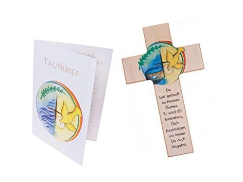 MaMeMi Kinderkreuz: Zur Taufe 15 cm - inklusive passenden Taufbrief