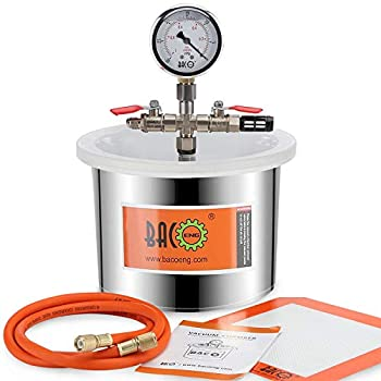 BACOENG 1.5 Gallon Stainless Steel Vacuum Chamber