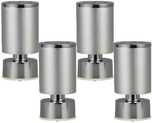 MNZDDDP Muebles pies Adiustable Mesa de Metal Patas de Muebles de aleación de Aluminio Pies de Repuesto Ronda Risers Piernas Piernas de Muebles Sofá Sofá Cama Escritorio Piernas Gabinetes Risers 4pcs