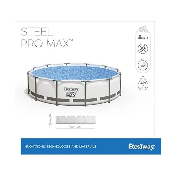 Bestway Steel Pro MAX Marco de Acero, Gris