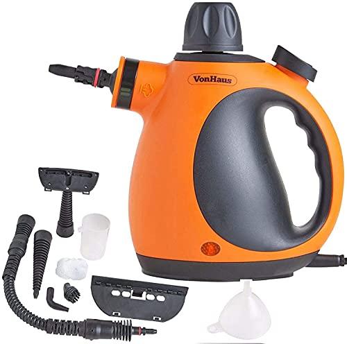 VonHaus Multi-Purpose Handheld Portable Steam Cleaner with Accessories – Lightweight Steamer for...